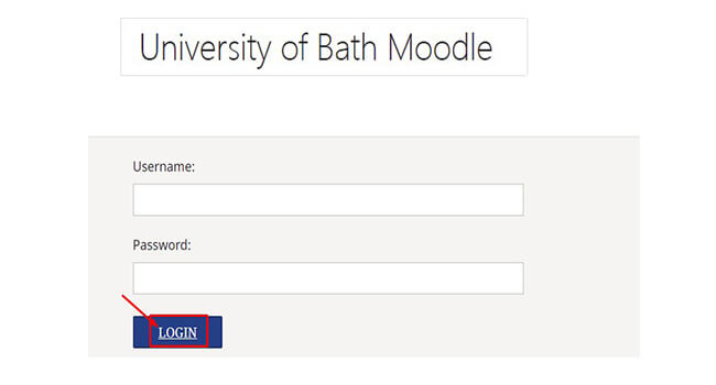 university of bath moodle sign in
